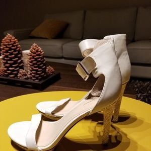 Calvin Klein white heels size 8.5